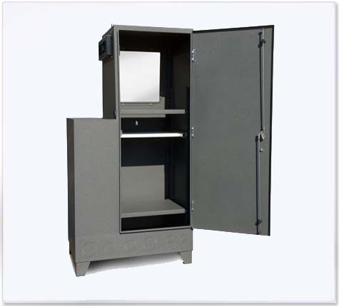 Steel Enclosure for CPU, Monitor & Keyboard